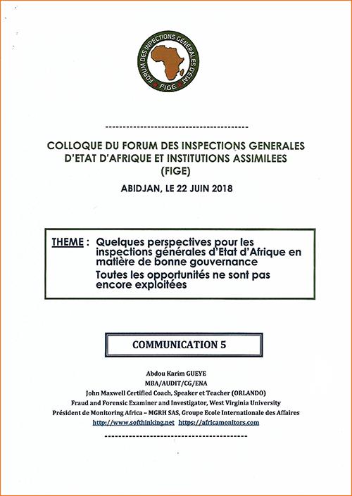 COMMUNICATION 5 / Abdou Karim GUEYE MBA/AUDIT/CG/ENA John Maxwell Certified Coach, Speaker et Teacher (ORLANDO)